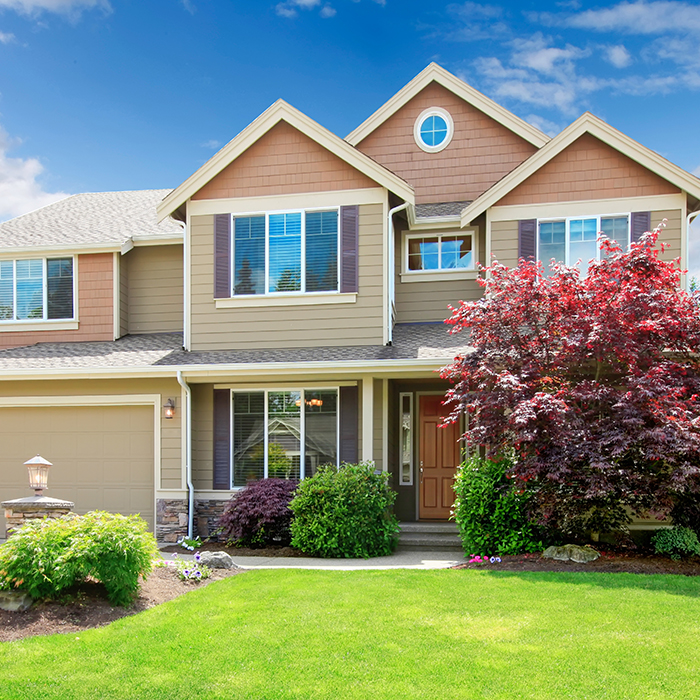 A beautiful house financed with an adjustable rate mortgage